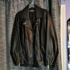 Kenneth Cole Reaction pleather jacket
